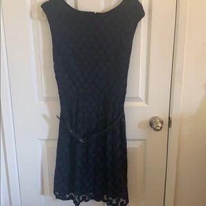 Little blue polka dot dress